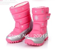 Winter boots children shoes child snow boots female male female child cotton-padded shoes
