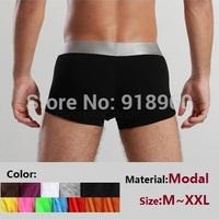 4 pcs/lot 7 colors size M~XXL pull in under wear for men brand boxers shorts/Modal comfortable men underwear knickers/WOL