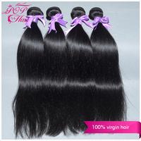 Ali POP Peruvian virgin hair straight 4pcs/lot Peruvian straight hair extension 100% human hair 6A Natural black hair thick ends