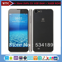 "Dual SIM Card 5""1080P 2GB RAM 32GB ROM MTK6589t Quad Core 1.5G Android 4.2 ZOPO C2 Black Phone Dual SIM Card Free Shipping!!"