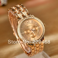 2013 New arrival luxury rhinestone women watch hot sale alloy quartz  Wristwatches 3 color  A18