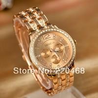 2013 New arrival luxury rhinestone women watch hot sale alloy quartz  Wristwatches 3 color  A18