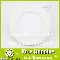 3pcs/lot LED Panel Light 4W 85-265V SMD2835 Recessed Ultra-thin Round Ceiling Wall Lamp Warm/Cold White Downlight Free shipping