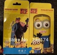 retail wholesale Despicable ME2 accessories protective case for Iphone5C 5S 5 4 4S silicon slim cartoon Water/dirt/shock proof