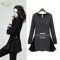 Dresses new fashion 2013 women autumn/winter long sleeve warm black knit casual dress for woman free shipping