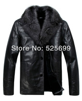 2013 autumn/winter leisure men's clothing coat silver fox collars  sheep skin male fur leather leather Jacket Lei&Yu