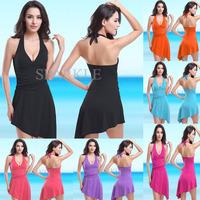 New Sexy one piece skirt swimwear for women, high waist swimsuit With Pads Novelty Monokini women's biquinis for Brazilian
