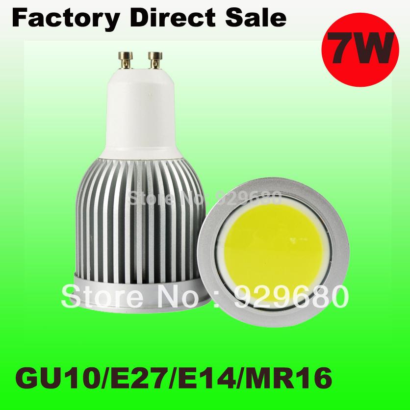 led gu10 7w cob spotlights,warm cool natural white,replace to 60w halogen lamp,reflector lamp,spot lamp,free shipping 10pcs/lot(China (Mainland))