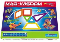 Mag-wisdom Newest Smart 77 Piece Set Magnetic Extreme Building Play Set Baby Toy