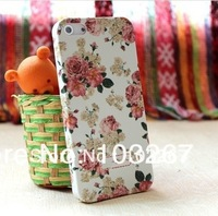 Free shipping Hot Exquisite Design Flower Pattern Relief Hard Cover Case for iphone 5/5S