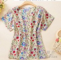 1pcs Hot Sale New Women Colorful Birds Chiffon T shirt Batwing Loose Blouse Tee Tops 5 style