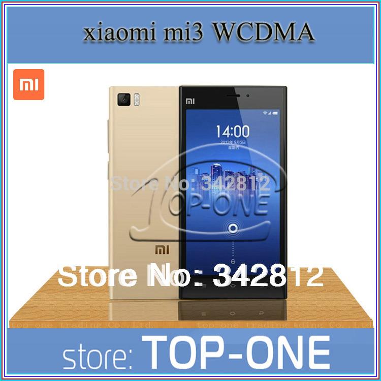 "Best Service Original Xiaomi Mi3 WCDMA 16GB/64GB Rom+2GB Ram Mobile Phone Snapdragan 800 5.0"" 13MP Unlocked NFC 1920*1080(China (Mainland))"