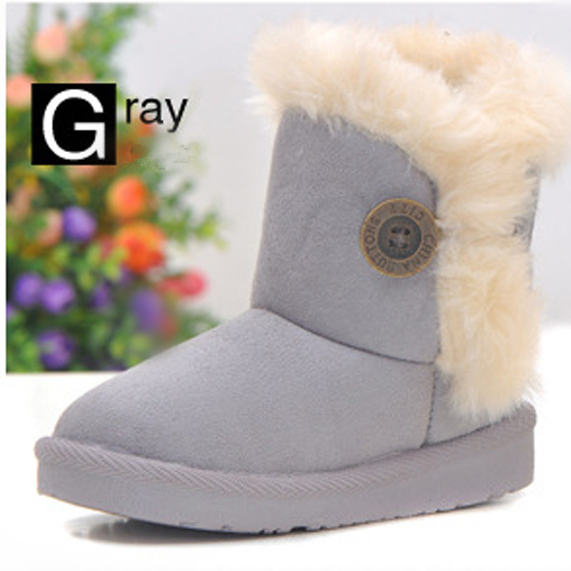 2014 Free Shipping big girl shoes Children shoes Winter Boots Baby Snow Boot Antislip Warm Shoes Booties Cotton child boots(China (Mainland))