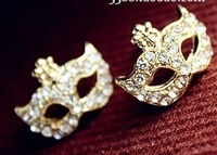 Hot sell fashion cute Chesapeake s Bohemia Catwoman mask  flower Lovely earrings Support wholesale
