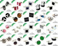 3 Pair /lot  Hot sale 2013 Classic 80 style jewelry cufflinks can be mixed wholesale - Color:silver,red,green,gold,blue,black