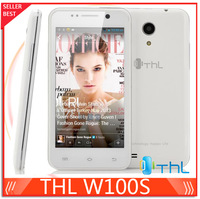 "2013 Orignal white THL W100S Quad core cell phone MTK6582M  4.5"" Android 4.2 GSM/WCDMA 3G Smart mobile phone SG Free Shipping"