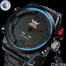 EPOZZ military watch full steel watches men luxury brand relogio masculino 2014 digital reloj waterproof montre homme clock male(China (Mainland))