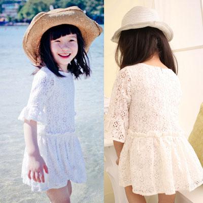 Meninas Vestir Special Offer Real Vestidos Infantis Peppa Retail Girls Lace Dress Children Flowear 2014 New Baby Free Shipping(China (Mainland))