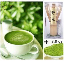 Pure Organic Matcha Green Tea Powder 8.8oz 0.55lb 250g bag+ Japanese Chasen Bamboo Whisk Set Pack(China (Mainland))