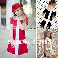 retail - 2014 girl dress baby dress girl dresses girl party dress kids children dress baby girl clothing collar tcq 005 -X-7 cux