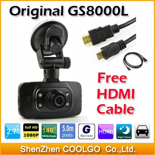 Original GS8000L Novatek 2.7 inch 140 Degree 25fps Car DVR HD 1920*1080P Vehicle Car Camera GS8000 Fr