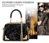 Hot Sale! Women Leopard Sequins Style Vintage Handbags Leather Handbags Messenger Bags Shoulder Bag b4 SV000865