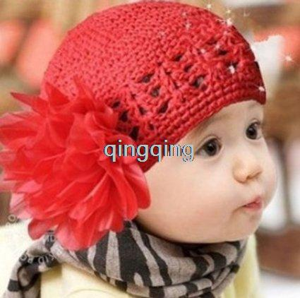 Sweet Hollow Large Safflower Hat Headbands for Kid's Pink, red,purple mix 10pcs/lot(China (Mainland))