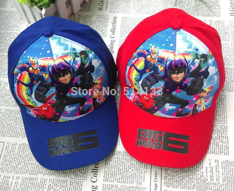 2015 Fashion & New baby boys girls Big Hero 6 baseball hats/children kids cartoon Baymax casual sun /sports caps 3pc(China (Mainland))