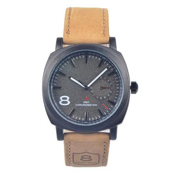 2014 новинка бизнес кварцевые часы мужчин спортивные часы военные часы мужчины кориум кожаный ремешок армия наручные часы