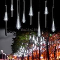 50CM Christmas Lights Meteor Shower Rain Tubes LED Light For Christmas Wedding Garden Decoration 100-240V/EU White B16 TK1325