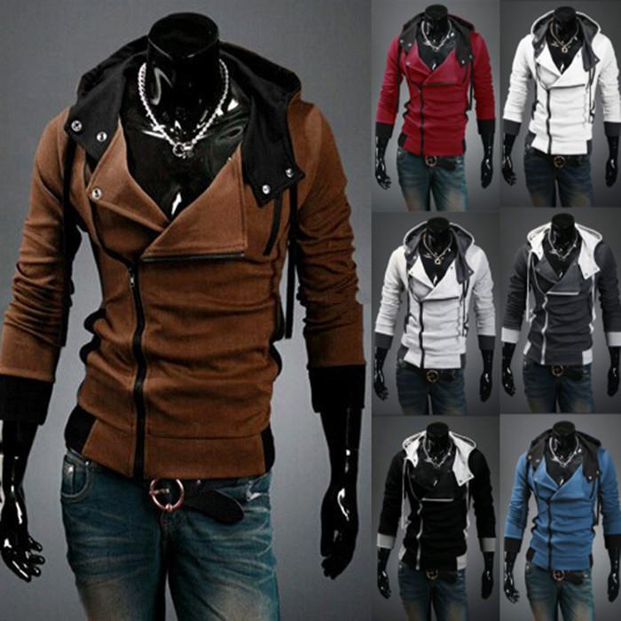 Plus size m-6xl felpe con cappuccio uomo& abbigliamento cerniera felpa con cappuccio giacca di tuta maschio Assassins Creed everlast masculino moleton