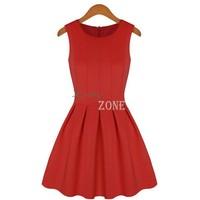 High Quality New 2014 spring and summer Fashion women's dresses big princess tutu Sleeveless dress women B014 SV002562