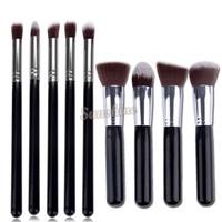 Hot Sale 9pcs Premium Synthetic Kabuki Makeup Brush Set Professional Cosmetics Foundation blending brushes b8 SV00965 968