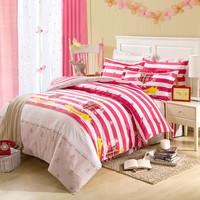 home textile printed 3PCs 4PCs cotton bedding set plaid on bed cover linen bedclothes cheap beding bedtex bedlinen bedsheet