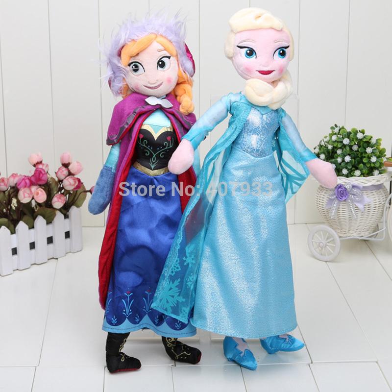 2pcs/set 40CM Plush Toys New Princess Elsa plush Anna Doll Kids Dolls for Girls(China (Mainland))