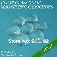 1 Inch (25mm) Clear Transparent Circle Domed Magnifying Glass Cabochon Cover for Photo Pendant Making