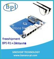 Freeshipment BPI-R1 Router+2Antenna , Original Banana pi Opensource router board R1 Freeshipment