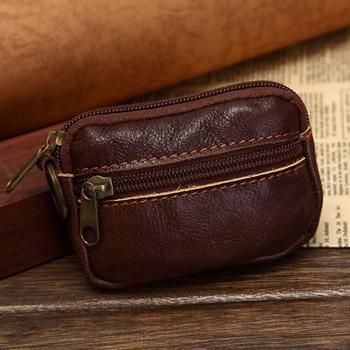 Vintage Стиль Натуральная кожа Coin Purse, Small Real Leather Coin Wallet, CКрасныйit ...