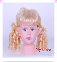 Free Shipping Plastic Children Mannequin Head,hair mannequin head