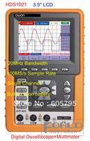 "OWON  HDS1021 3.5"" Handheld 20MHz Bandwidth Single channel 100MS/s SR  Digital Oscilloscope & Multimeter Scopemeter"