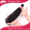 "Queen hair products virgin brazilian hair extenstions queen brazilian deep wave curly hair  1pcs lot 14""-28"""
