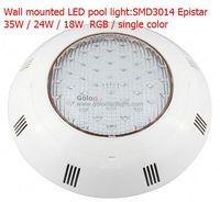 35W wall mounted LED pool light,SMD3014 LEDs,PC casing RGB,single color,AC12V,2pcs/lot CE RoHS DHL Fedex  free shipping