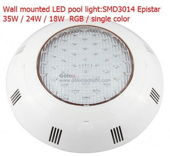 wall mounted LED swimming pool light RGB 18W, SMD3014 higher Lumen AC12V,IP68,PC casing,W/R/G/B/R single color  DHL Fedex free