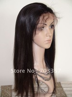 130% density #2 Silky Straight Brazilian Virgin Hair Natural Hairline Full Lace Wigs with Baby Hair Free Shipping
