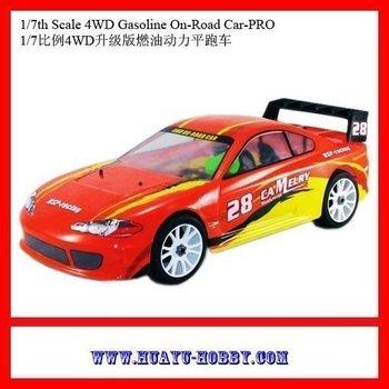 1/7th 21cxp nitro engine Scale 4WD Gasoline On-Road Car-PRO 94766 RTR