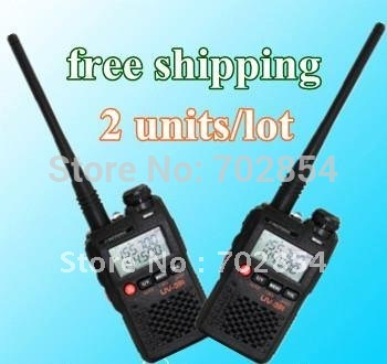 Dual band dual display walkie talkie mini pocket two way radio BAOFENG brand UV-3R II 2units/lot free shipping free earphone