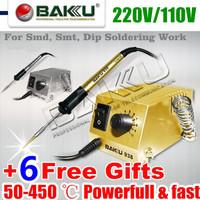 Powerful & Fast Soldering Station,220V/110V. for SMD, SMT, DIP Soldering Work. Long Life Heater.BAKU BK-938.