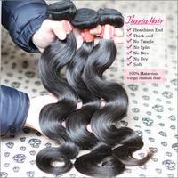 Rosa Hair Products Malaysian Body Wave Virgin Hair Weave Extension 2Pcs/Lot 6A Unprocessed Human Natural Black Hair ShippingFree