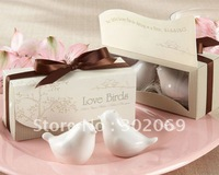 High quality  50set/lot  2010 newest wedding favor, love bird salt pepper shakers