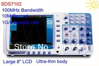 "Free Shipping OWON 100Mhz Digital Oscilloscope SDS7102 1G/s SR,10M recorder,large 8"" LCD w/ 3 yrs warrranty"